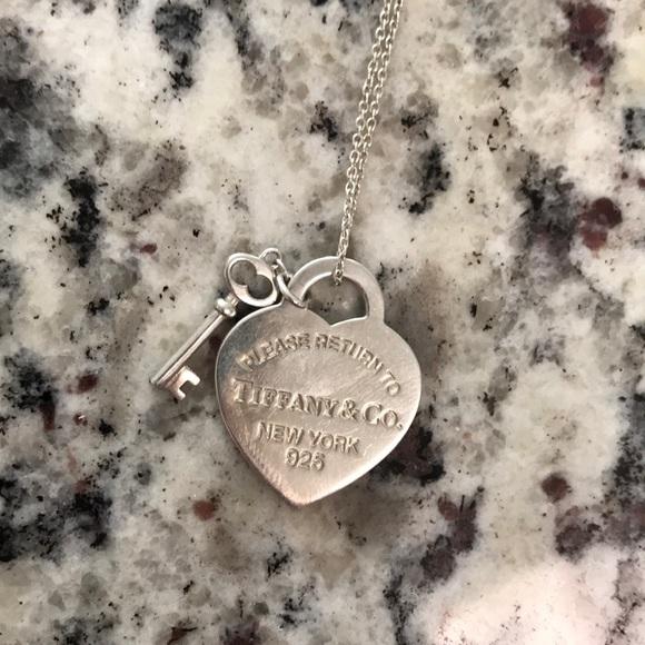 e4de2a69023a Jewelry - Tiffany   Co. heart tag with key pendant and